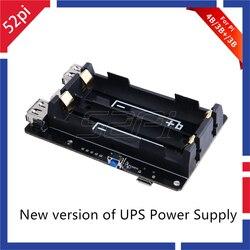 52pi original 18650 ups pro fonte de alimentação dispositivo estendido dois porta usba para raspberry pi 4 b/3b +/3b, não incluem 18650 bateria