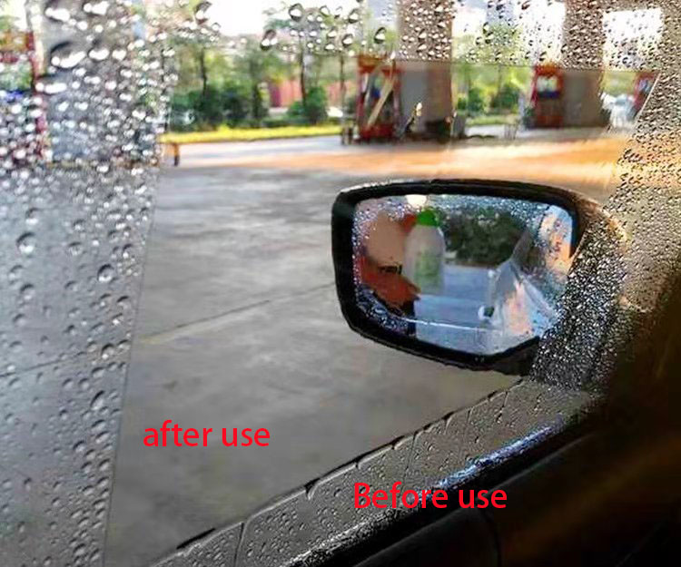 Image 2 - 2 pieces/set of 24X20CM large car window waterproof anti fog transparent film non injury mirror environmental protection film ca-in Car Stickers from Automobiles & Motorcycles