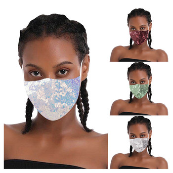 NEW SEQUIN WOMEN FACE-MASK mascararilla skin care health Quick-drying mouthcover cubre bocas lavable maskswashable