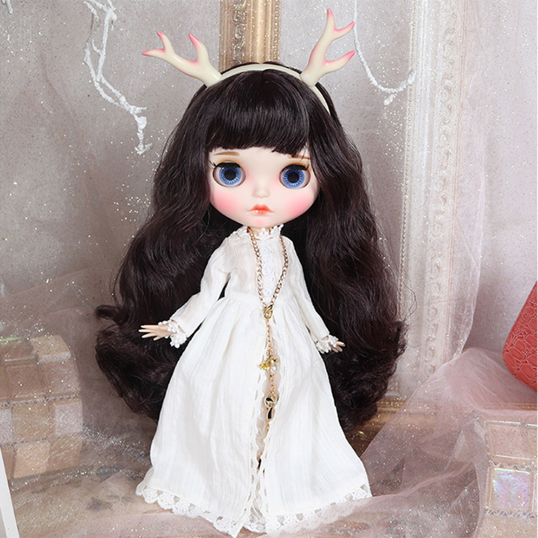 19 Joints 1/6 Matte Makeup Big Eyes Doll with Full Clothes and 9Pair Hands Model Educational Toy Blyth  Dolls - 13th Anniversary
