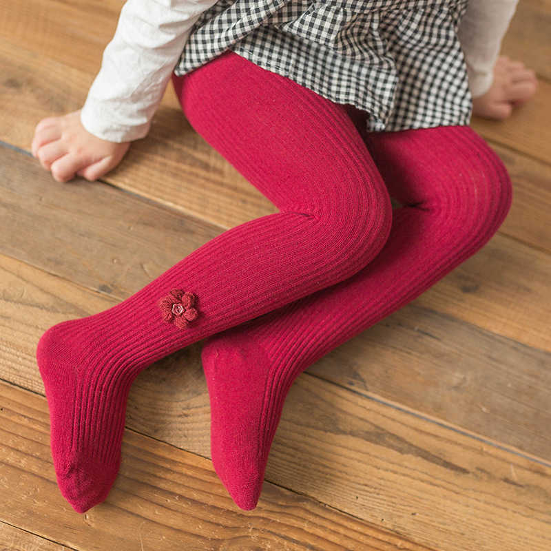 High Quality Winter Warm Baby Girls Red Tights