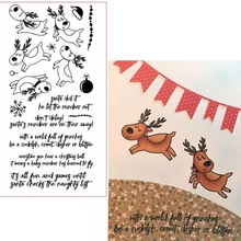 Deers&Bleesings Clear Stamps Deers&Phrases For DIY Card Making Kids Transparent Silicone Stamp New 2019