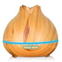 400ml Luftbefeuchter Aroma Ätherisches Öl Diffusor Holzmaserung Ultraschall Kühlen Nebel luftbefeuchter für Office Home Schlafzimmer Wohnzimmer-in Luftbefeuchter aus Haushaltsgeräte bei