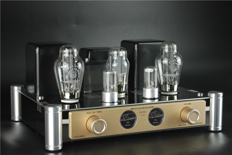 BoyuuRange A50 MKIII 300B Vacuum Tube Amp Single-End Class A HiFi Audio Integrated Amplifier with VU Meters (Updated Version)