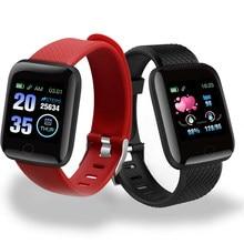Reloj inteligente D13 para hombre, pulsera con control del ritmo cardíaco y de la presión sanguínea, podómetro para IOS y Android, 116 Plus