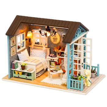 CUTEBEE Doll House miniaturowy domek dla lalek DIY z meblami drewniany domek do zabawy na prezent urodzinowy dla dzieci Z007 tanie i dobre opinie 12-15 lat Dorośli 8-11 lat Drewna Away from the fire Dollhouses 21 x12 5x14 5cm Unisex