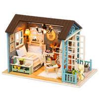 Casa de muñecas CUTEBEE DIY en miniatura, casa de muñecas con muebles, casa de madera, juguetes para niños, regalo de cumpleaños Z007