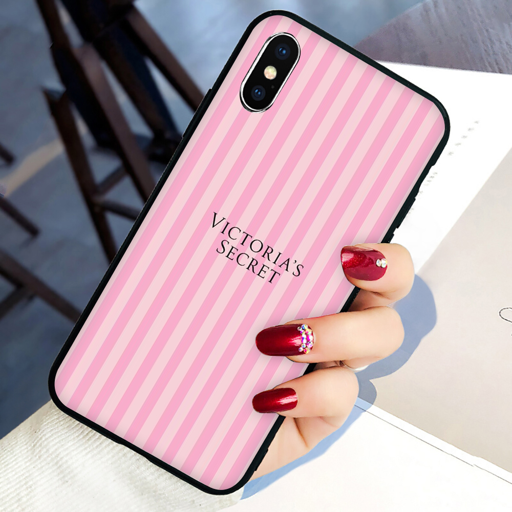 PINK LOVE PINK Soft Silicone Phone Cover Case For Iphone 5 5S SE 6 6S 7 8 Plus X XR XS 11 Pro Max