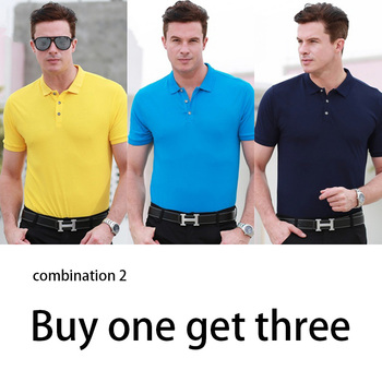 European and American style business mercerized cotton polo shirt 2020 new solid color lapel short sleeve men