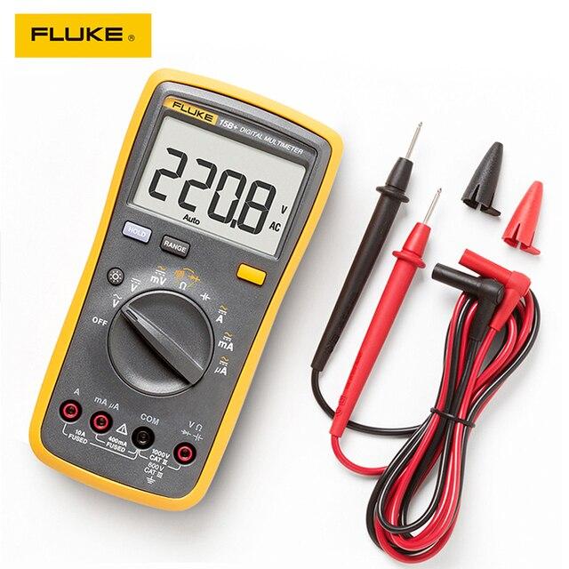 Автоматический цифровой мультиметр Fluke 15B +/17B +/18B +/12E + Plus, DMM AC/DC/диод/R/C, тестер тока
