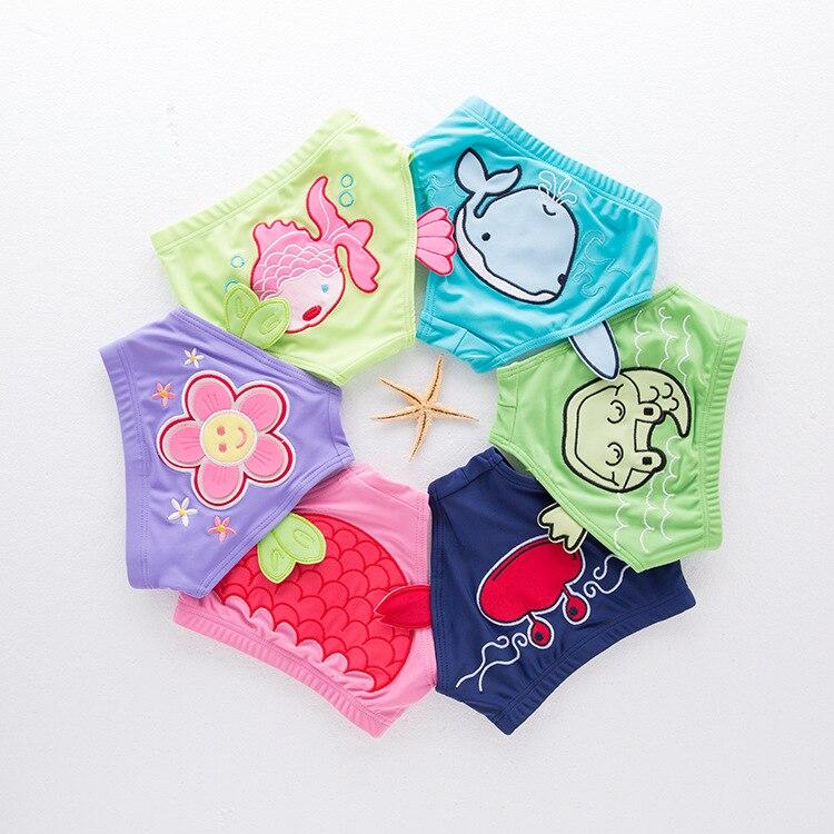 CHILDREN'S Swimming Trunks Boys And Girls Triangular Baby Infant Swimming Trunks Small CHILDREN'S Cute Cartoon Modeling Tail Swi