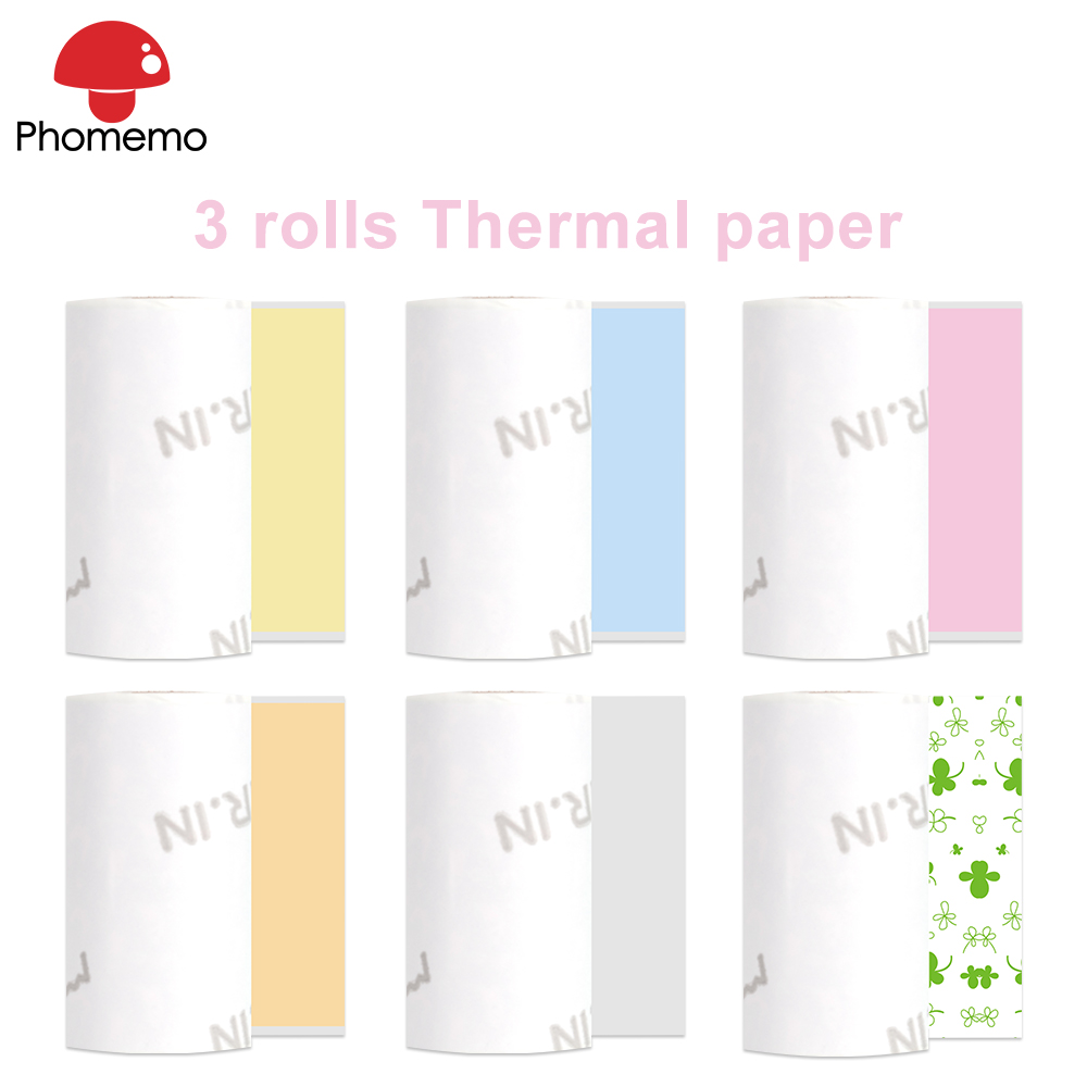 Phomemo Thermal Paper Roll Width 53mm * Diameter 30mm Clear Printing For Phomemo M02/M02S/M02Pro Portable Mini Photo Printer
