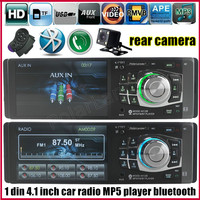 Car Radio Mp4 MP5 Player bluetooth USB TF Aux 1 Din Car Audio Stereo including rear camera with steering wheel remote control