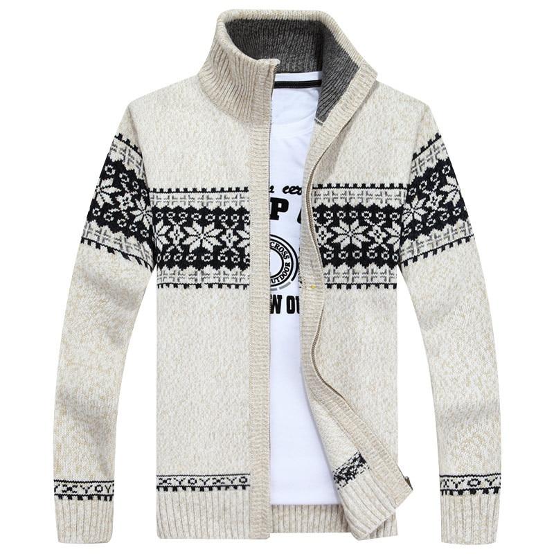 Slim Wool Sweater Men Brand Fashion Casual Long Sleeve Zipper Knitted Coat Clothing Sweater Streetwear Cashmere Sweater Jackets