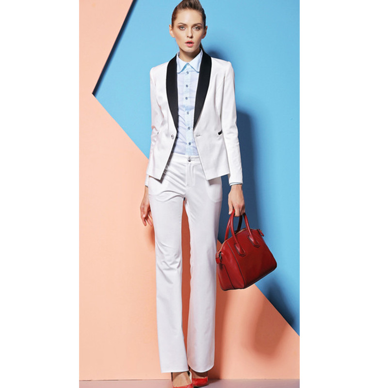Women Evening Pant Suits New Elegant Custom Made Formal Women Pants Suits For Office Ladies Sleeve Professional Uniforms Sets
