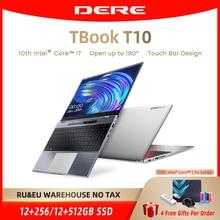Dere TBook T10 15.6″ Intel Core I7-1065G7 Touch Bar Laptops 16GB 512GB SSD Windows 10 FHD Backlit Keyboard 2.4G+5G Wifi Notebook