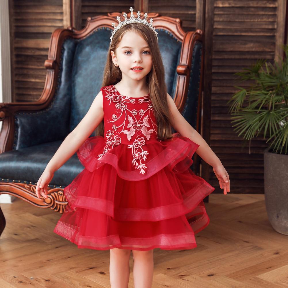 Europe And America Princess Dress Girls Puffy Flower Boys/Flower Girls Wedding Dress Children Catwalks Children Evening Gown Hos