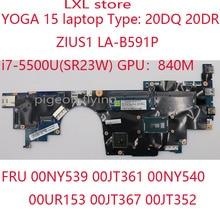 YOGA 15 motherboard mainboard for Thinkpad laptop 20DQ 20DR ZIUS1 LA B591P i7 5500U 840M DDR3