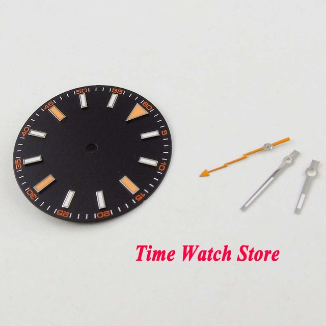 Parnis 30.8mm no logo black strile dial watch me luminous marks fit MIYOTA 8215 821A mingzhu 2813 Automatic Movement with hands