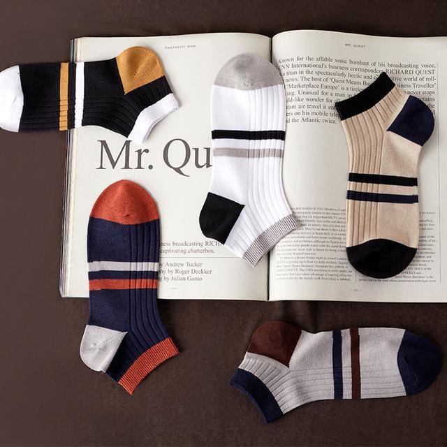 5 pairs Men's Cotton Short Socks