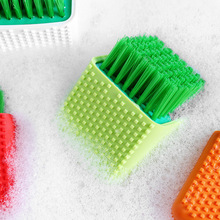 Multifunction Kitchen Cleaning Brush Silicone Dish Washing Brush for plate/pot cleaning tool brothroom supplies multi use silicone laundry washing brush small size handheld washing board brush for clothes candy color shirts cleaning tool