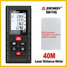 SNDWAY 거리 측정기 레이저 거리 측정기 범위 핸드 툴 장치 파인더 전자 SW T4S/T40/T60/T80/T100