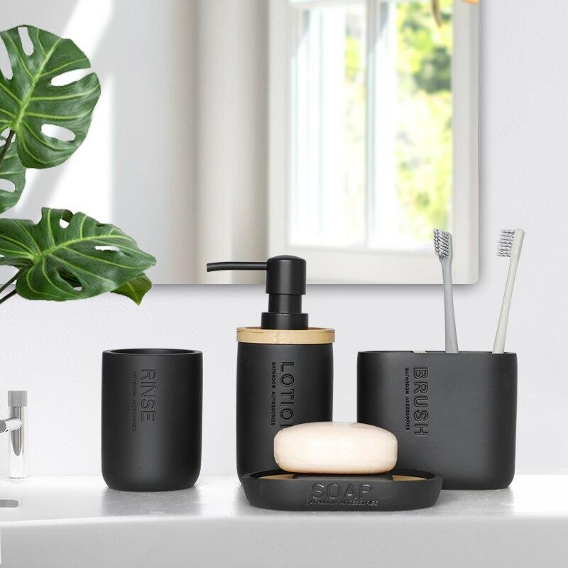 4 шт Аксессуары для ванной комнаты Набор стиральная инструменты