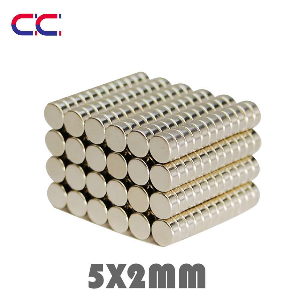 100/200/500pcs 5x2 mm Neodymium Magnet Strong Round Magnets N35 Disc 5*2 Search Rare Earth For Crafts 5mmx2mm