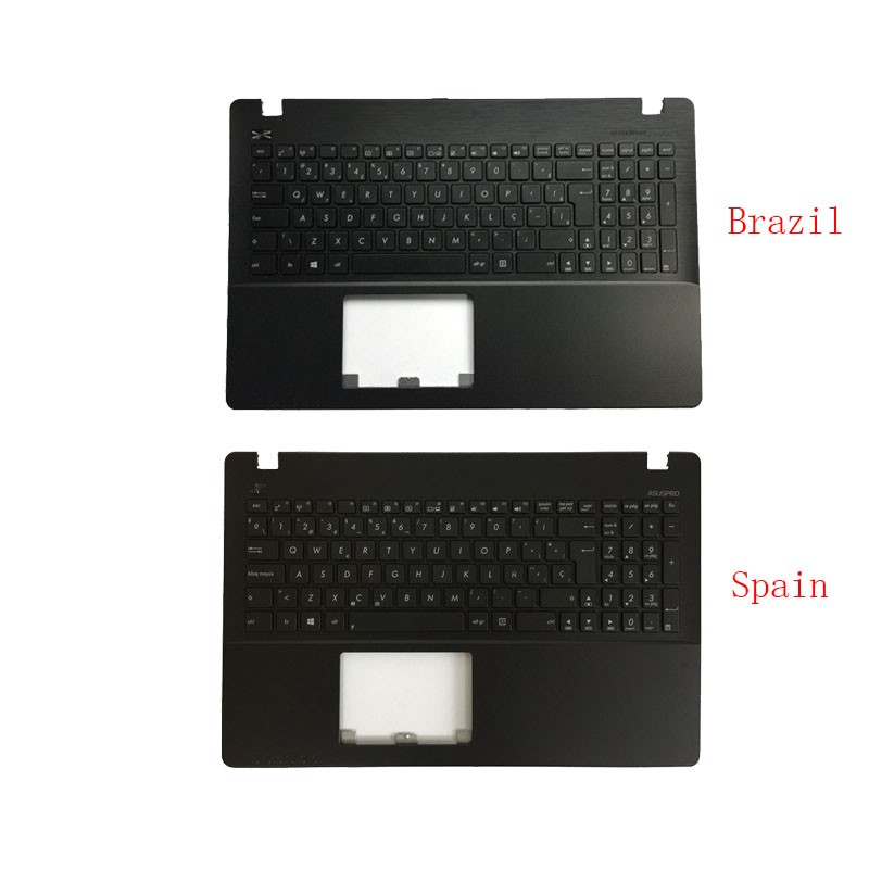 New Brazil/Spanish Laptop <font><b>Keyboard</b></font> for <font><b>ASUS</b></font> <font><b>X550</b></font> K550V X550C X550VC X550J X550V A550L Y581C F550 R510L Palmrest Upper <font><b>Cover</b></font> image
