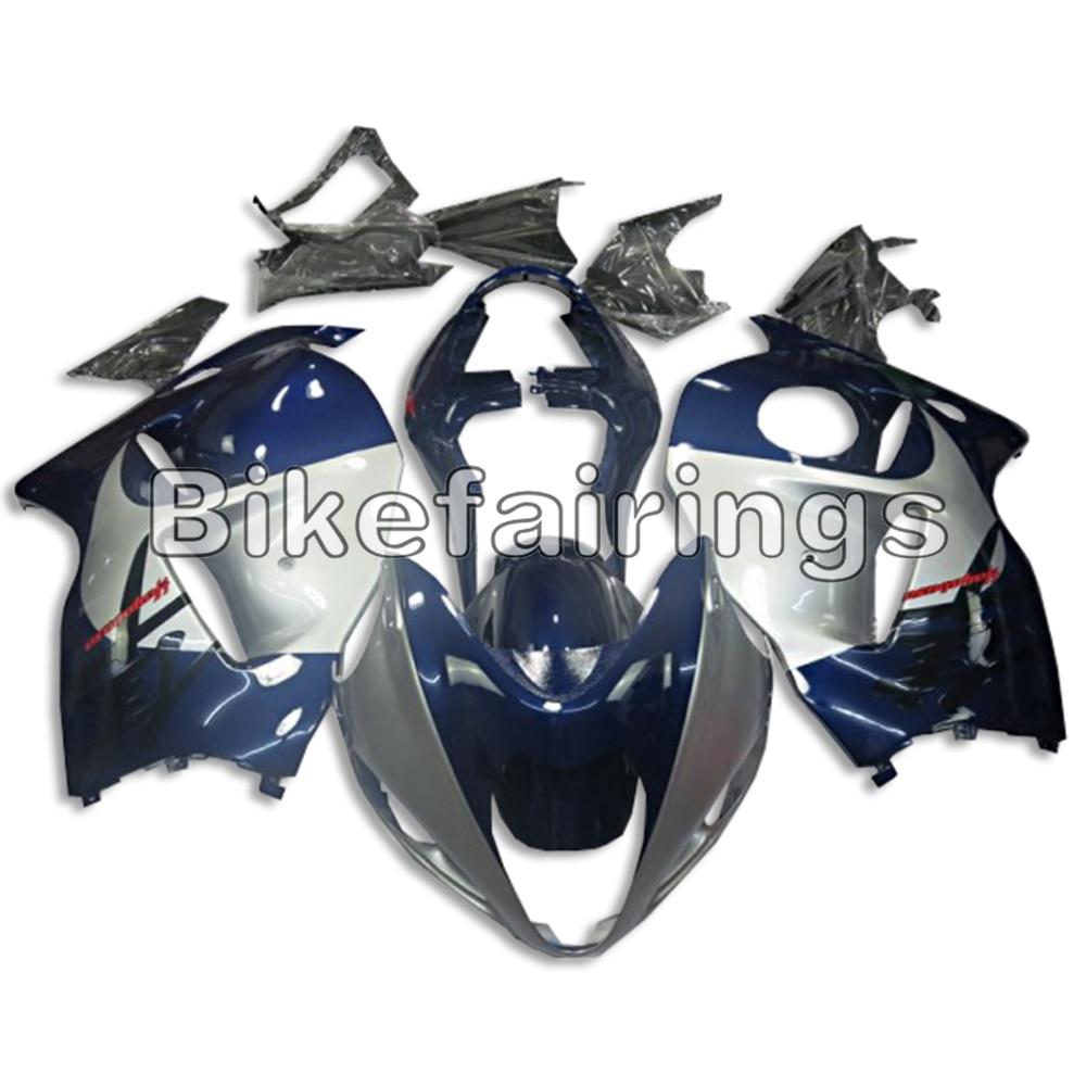 Sportbike Bleu Argent Corps En Plastique Cadres Pour Suzuki GSXR1300 1997 98 99 00 01 02 03 04 2005 2006 2007 GSXR 1300 Hayabusa Couvre