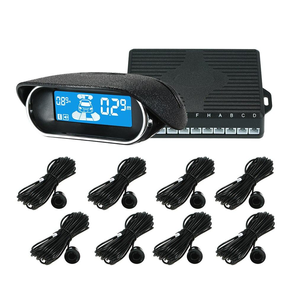Capteurs de stationnement 6/8 capteurs en option électronique voitures aide au stationnement Radar de recul détecteur de voiture aide au stationnement stationnement