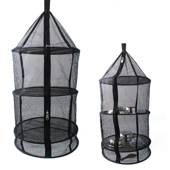 Layers Hanging Basket with Zipper Folding Dry Rack Herb Drying Net Dryer Bag Mesh For Herbs Flowers Buds Plants tableware fruits