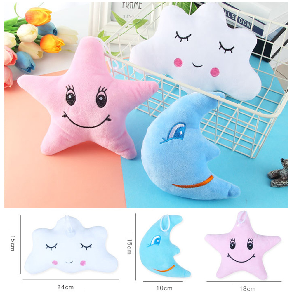 New Moon Star Cloud Shape Emoticon Short Plush Toys For Kids Stuffed &Plush Baby Toys Pillow Cute Dolls Pendant Girl Gift