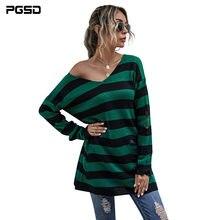 Pgsd осенне зимний свитер пуловеры для женщин 2020 длинный платье
