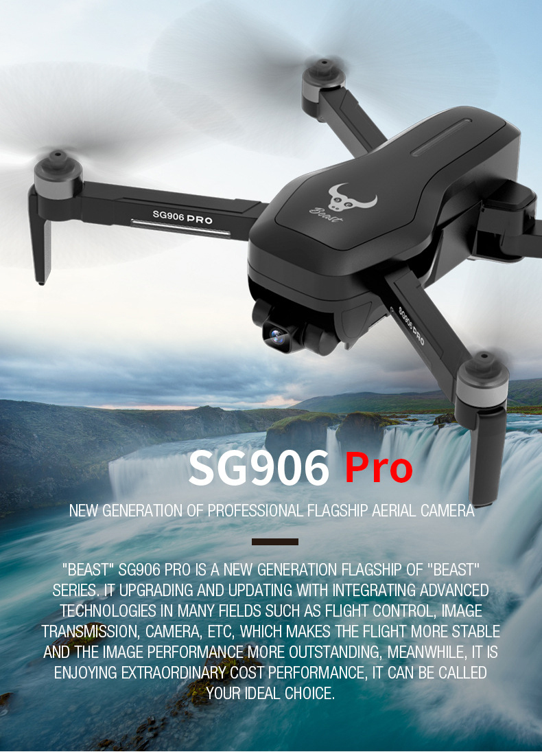 Sg906 Pro Drone 4k HD Mechanical Gimbal Camera 5g Wifi GPA System Supports Tf Card Flight 25 Min Rc Distance 1.2km VS SG700 S167 - sport-action-video-cameras, portable-audio-video, drone, camera-drones, cameras-and-camcorders