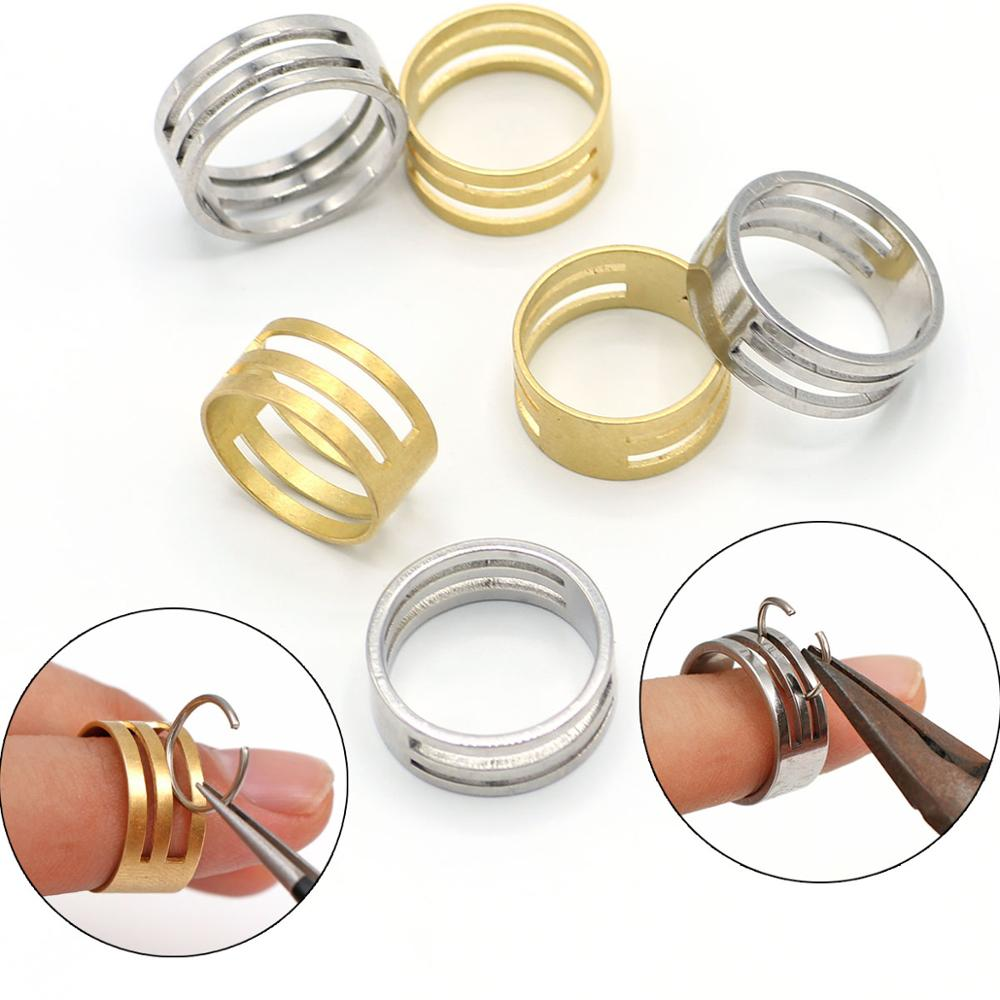Stainless Steel Copper Jump Ring Opening Closing Finger Jewelry Tools Round Circle Bead Plier For DIY Jewelry Making Tool