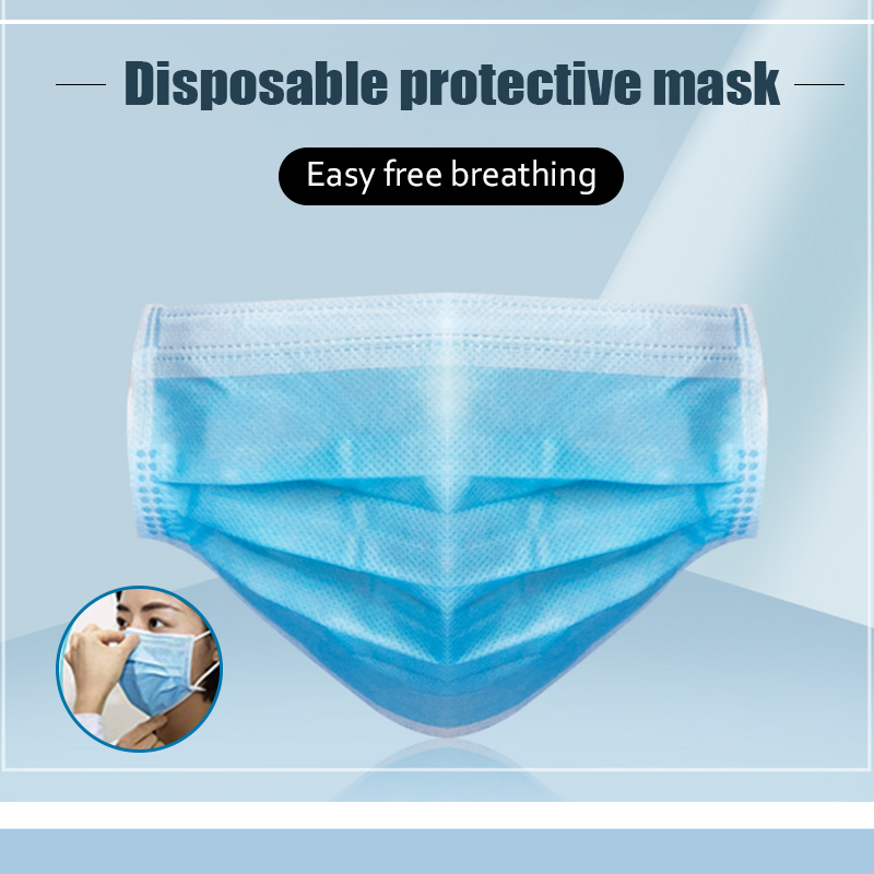 30 Pieces 3 Ply Protection Mouth Masks Disposable Face Mouth Nose Mask Anti-Dust Anti Pollution Non-Woven Masks