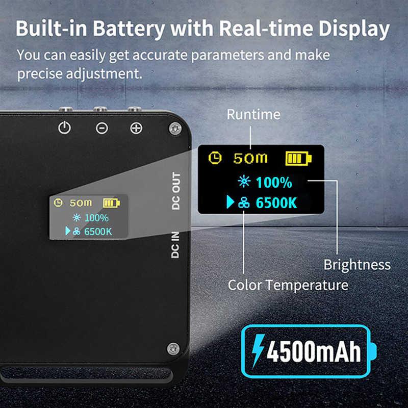 Manbily MFL-06 LED الفيديو الضوئي 4500mAh CRI 96 رقيقة جدا مشرق ملء ضوء مصباح قابلة للشحن كاميرا التصوير الفوتوغرافي الإضاءة
