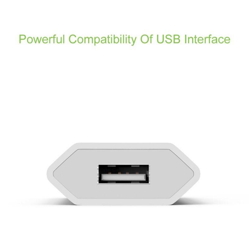Nuevo Color blanco UE enchufe adaptador de corriente cargador USB cargador Universal de pared de teléfono 5A cabeza de carga sin Cable para IPhone Huawei - 4