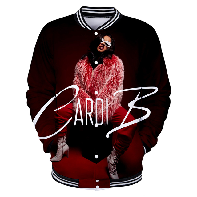 CARDI B THEMED 3D BASEBALL JACKET (23 VARIAN)