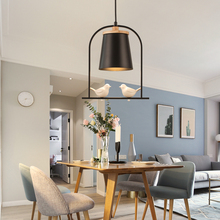 Modern nordic minimalist deco bird pendant light creative lron LED hanging light for living room dinner room cafe room lamp e27