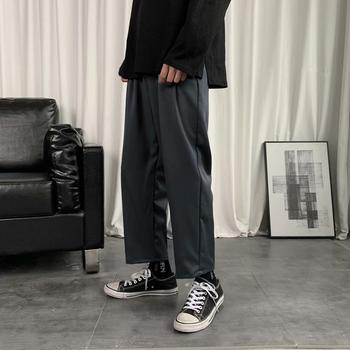 Super fire cec pants male Korean version of the trend of wild fall casual small trousers nine points harem pants loose straight