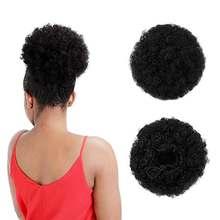 Короткие афро слоеные синтетические волосы пучок шиньон для