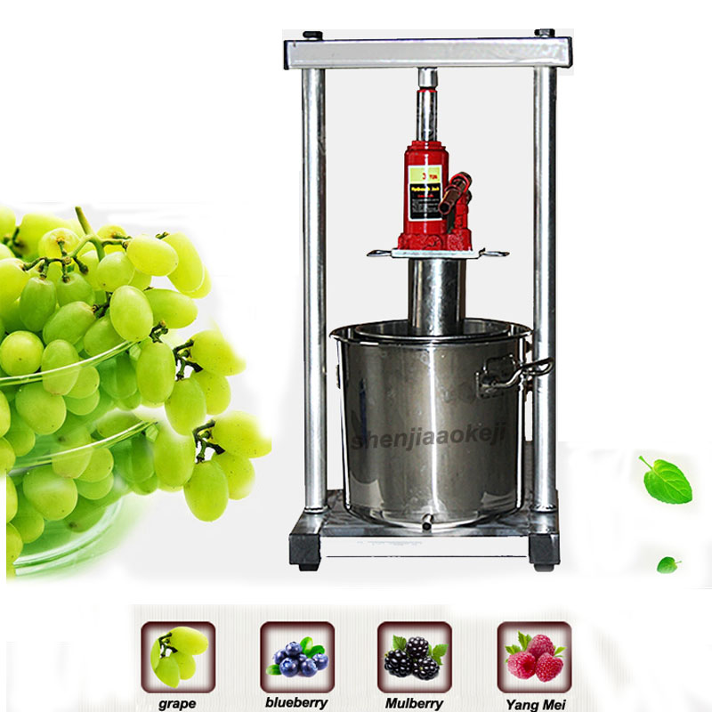 22L Stainless Steel Household Manual Hydraulic Fruit Squeezer Small Honey Grape Blueberry Mulberry Presser juicer|Food Processors| |  - title=