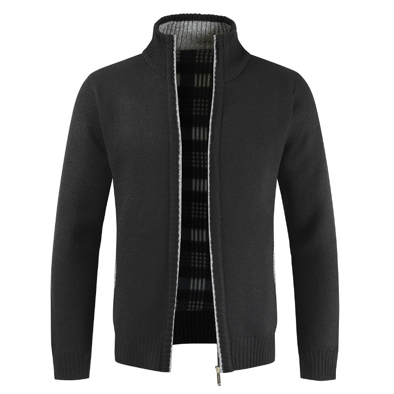 Fashion Sweaters Winter Male Solid Warm Thick Classic Brand MOOWNUC MOOWNUC Sweaters Casual Cardigans Slim Windproof Homme Men