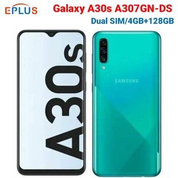 Купить Мобильный телефон samsung Galaxy A30s, 4 ГБ, 4 ГБ/128 ГБ, A30s, A307GN/DS, две sim-карты, 6,4 дюйма, тройная камера заднего вида, 25MP, 8MP, 5MP, 4000 mAh, смартфон