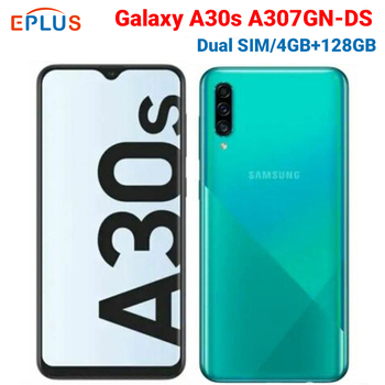 "Samsung Galaxy A30s 4GB 4GB / 128GB Mobile Phone A30s A307GN/DS Dual SIM 6.4"" Triple Rear Camera 25MP 8MP 5MP 4000mAh Smartphone"