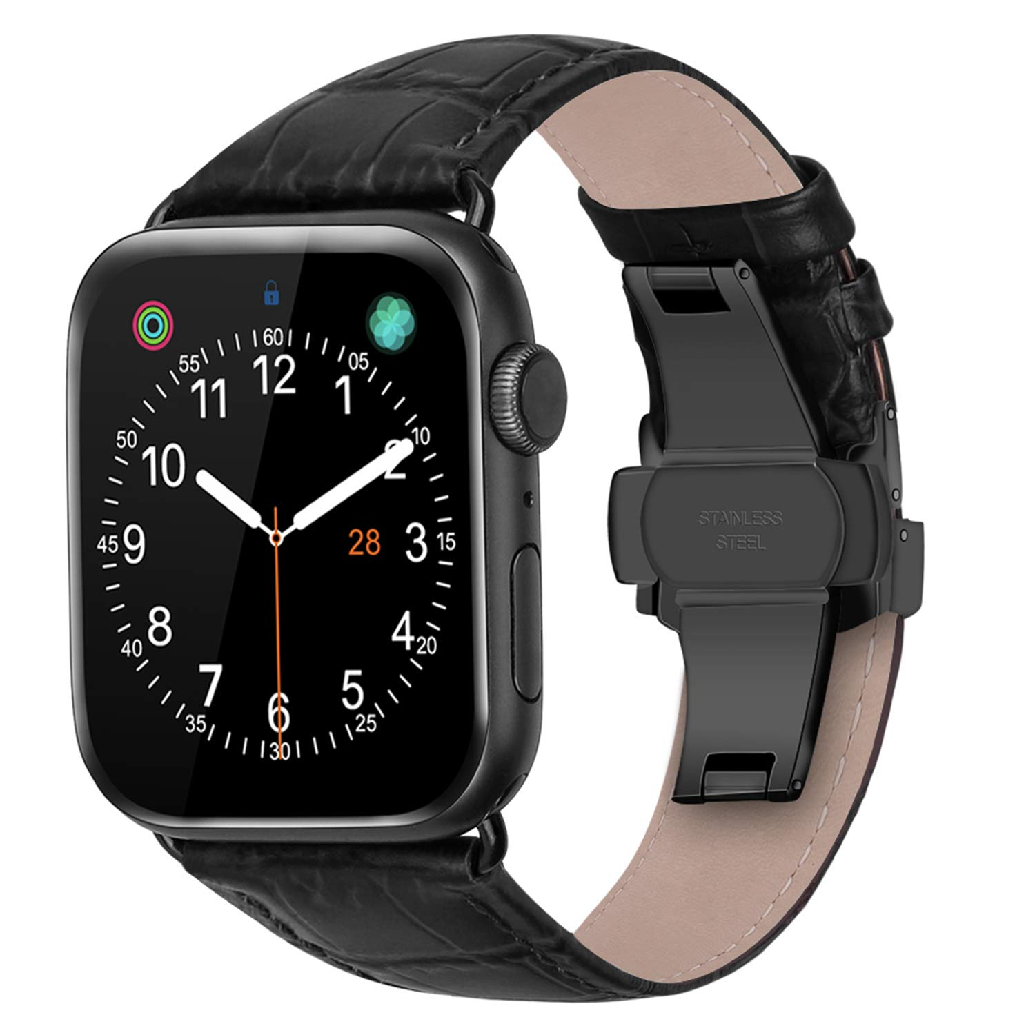 Genuine Leather strap For Apple watch band 44 mm 40mm iWatch band 42mm 38mm Crocodile bracelet correa for Apple watch 5 4 3 6