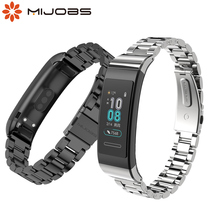 Correa de Metal para Huawei Band 4 Pro, correa de Metal para pulsera inteligente Huawei Band 3 Pro, accesorios para reloj inteligente Huawei Band 3