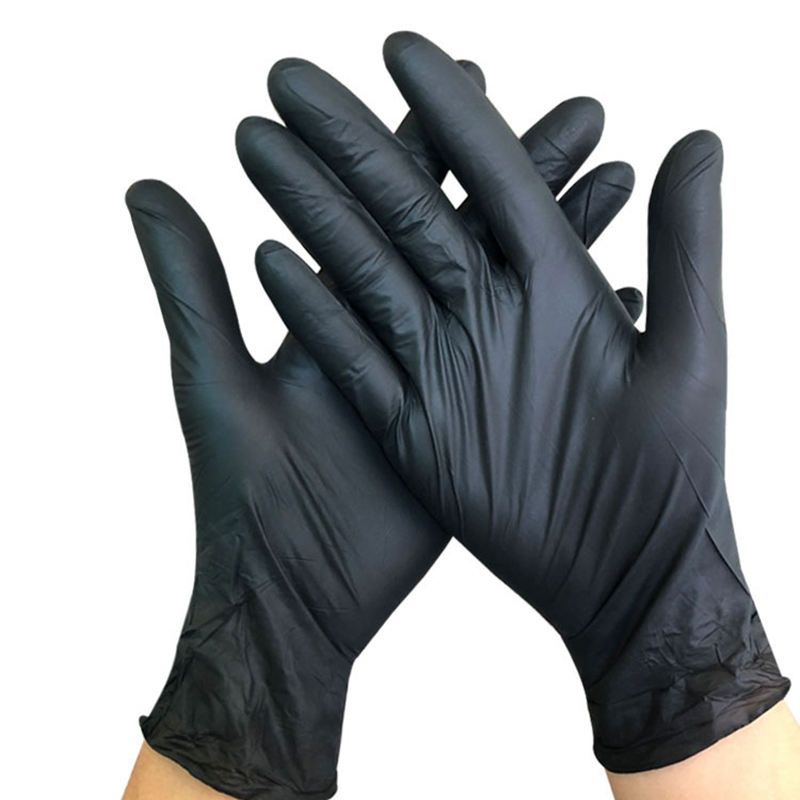 100PCS Black Disposable Gloves Dishwashing/Kitchen/Medical /Work/Garden Gloves Universal For Left And Right Hand